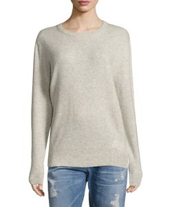 Zadig & Voltaire | Just Deluxe Cashmere Elbow Patch Sweater