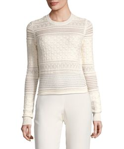 Derek Lam 10 Crosby | Silk Rib Paneled Sweater