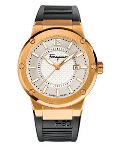 Salvatore Ferragamo   Ferragamof-80 Dial Rubber Strap Watch