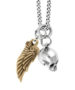 King Baby | Hamlet Skull And Wing Pendant Necklace