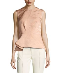 Narciso Rodriguez | Satin Asymmetrical Peplum Top