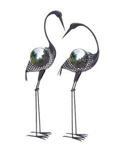 Uma | Gazing Ball Cranes Set Of 2