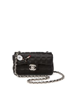Chanel | Vintage Quilted Satin Flap Mini