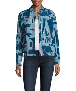 Paul Smith | Print Ribbed Welt Pocket Bomber Jacket