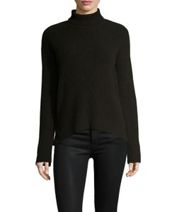 Helmut Lang | Wool Cashmere Ribbed Turtleneck Sweater