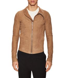 Rick Owens | Lamb Leather Stand Collar Jacket