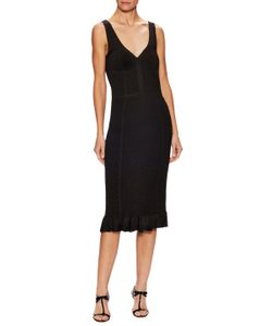 Oscar de la Renta | V-Neck Fitted Dress
