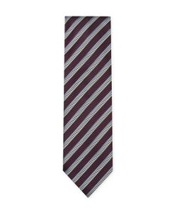 Ermenegildo Zegna | Embroidered Striped Tie
