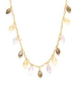 Chanluu | Marquise Multi Stones Station Necklace