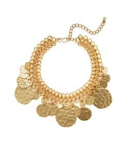 Kenneth Jay Lane | Textured Coin Collar Necklace
