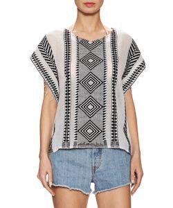 Lemlem | Freya Embroidered Cropped Poncho