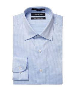 Saks Fifth Avenue | Embroidered Check Slim Fit Dress Shirt