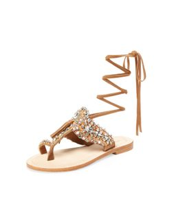 Antik Batik | Betsy Embellished Lace-Up Sandal