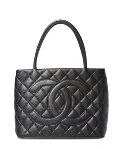 Chanel | Vintage Quilted Caviar Medallion