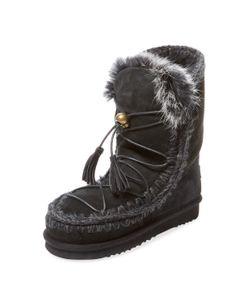 Mou | Eskimo Lace-Up Sheepskin Bootie