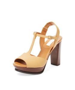 See by Chloé | Leather T-Strap Sandal