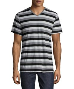 Michael Stars | Striped V-Neck Tee