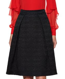 Prabal Gurung | Silk Textured A Line Skirt