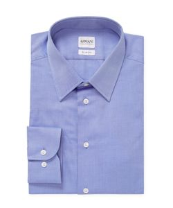 Armani Collezioni | Solid Spread Collar Slim Fit Dress Shirt