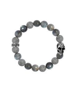 King Baby | Labradorite Bead Skull Stretch Bracelet