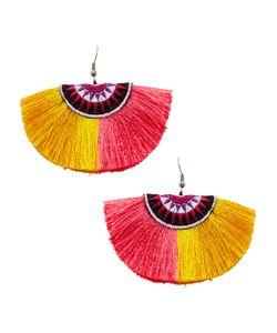 Shashi   Multi Sophie Fan Statement Earrings