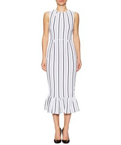 Opening Ceremony | Striped Lotus Maxi Dress