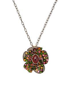 Arthur Marder Fine Jewelry | 3.00 Total Ct. Diamond Garnet Tourmaline Pendant Necklace
