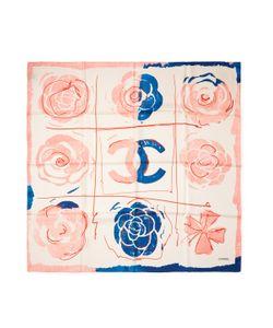 Chanel | Vintage Pop Art Silk Scarf 34 X 34