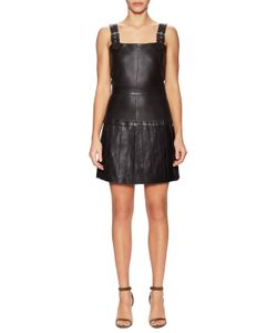 The Kooples | Leather Belted Flare Dress