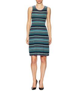 M Missoni | Cotton Intarsia Scoopneck Flared Dress