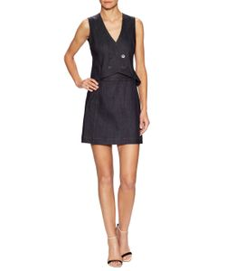 Derek Lam 10 Crosby | Denim Double Breasted Flare Dress