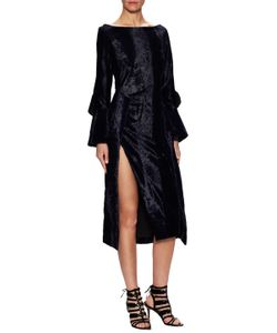 Prabal Gurung | Velveteen Asymmetric Wrap Dress