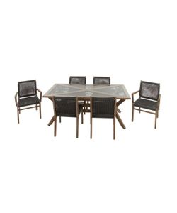 Uma | Rope Dining Set 7 Pc
