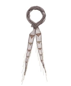 Chanluu | Beaded Triangle Embroidered Skinny Scarf 70 X 2
