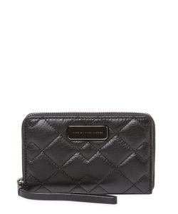 Marc by Marc Jacobs | Crosby Wingman Quilted Leather Wristlet
