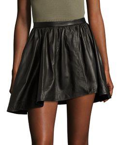 Iro | Leather Asymmetrical Mini Skirt