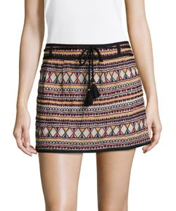 Antik Batik | Sancha Cotton Embroidered Mini Skirt