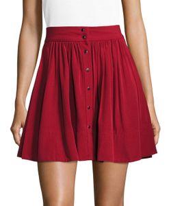 Iro | Elia Button Front A-Line Skirt