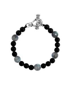 King Baby | Labradorite Onyx Bead Bracelet