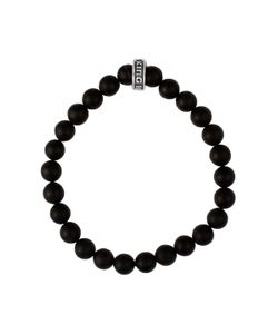 King Baby | Logo Ring Onyx Bead Bracelet
