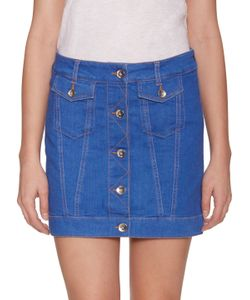 Love Moschino | Flap Pocket Denim Skirt