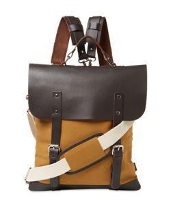 Enter | Leather Top Messenger Tote Bag