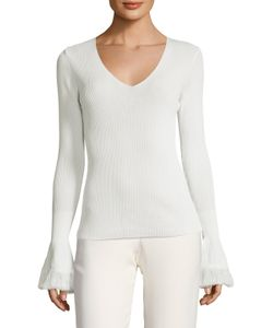 Derek Lam 10 Crosby | Ribbed Bell Sleeve Sweater