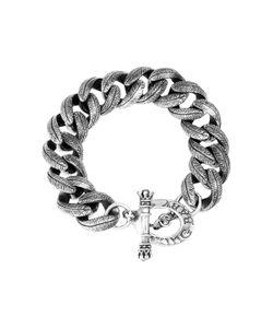 King Baby | Large Feather Carved Link Bracelet