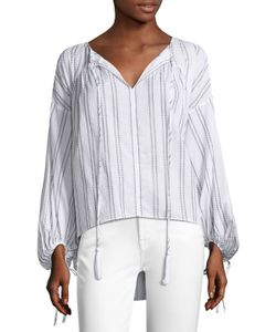 Derek Lam 10 Crosby | Blouson Sleeve Gathered Blouse