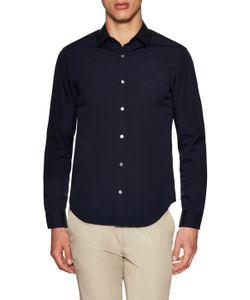 Burberry London   Solid Spread Collar Sportshirt