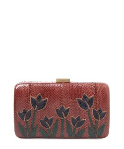 Serpui | Zoey Embroidered Snakeskin Clutch