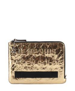 Chanel | Vintage Leather Je Ne Suis Pas En Solde Clutch
