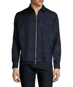 Timo Weiland | Drew Silk Printed Zip Front Top