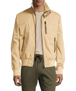 Michael Bastian | Leather Lined Trucker Coat In Taupe